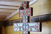 Wood orthodox cross — Stock Photo