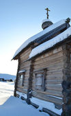 The old wooden church on the north of Russia. — Stock Photo