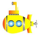 желтая подводная лодка — Cтоковый вектор