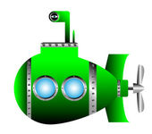 Green submarine — Vector de stock