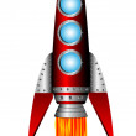 Starting red rocket — Stock Vector #7278123