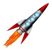 Starting rocket — Stock Vector
