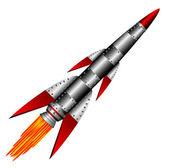 Starting military rocket — Stock Vector