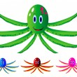 Set octopus — Stock Vector