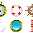 Royalty-Free Stock Vector Image: Sailing icons