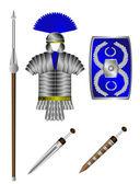 Armature e armi del legionario romano — Vettoriale Stock