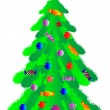 Stock Vector: Christmas tree