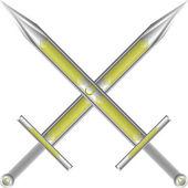 Çapraz kılıç — Stok Vektör