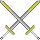 Sword cross — Stock Vector