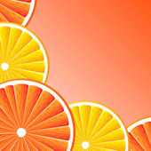 Citrus fruit background — Vector de stock