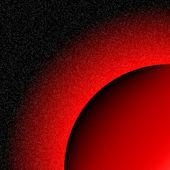 Röd planet i rymden — Stockvektor