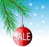 рождественская распродажа — Cтоковый вектор