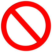 Not allowed sign — Stock Vector