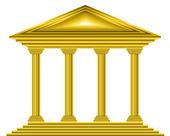 Gold bank icon — Stock Vector