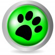Paw button - Stock Vector