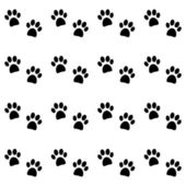 Background with black paw prints — Stock Vector