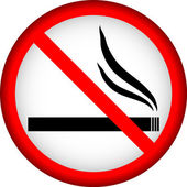 No smoking sign — Vector de stock
