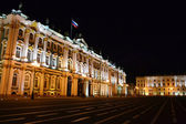 The State Hermitage Museum at night in St.Petersburg — Stock Photo