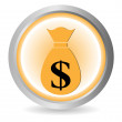 Stock Vector: Money button