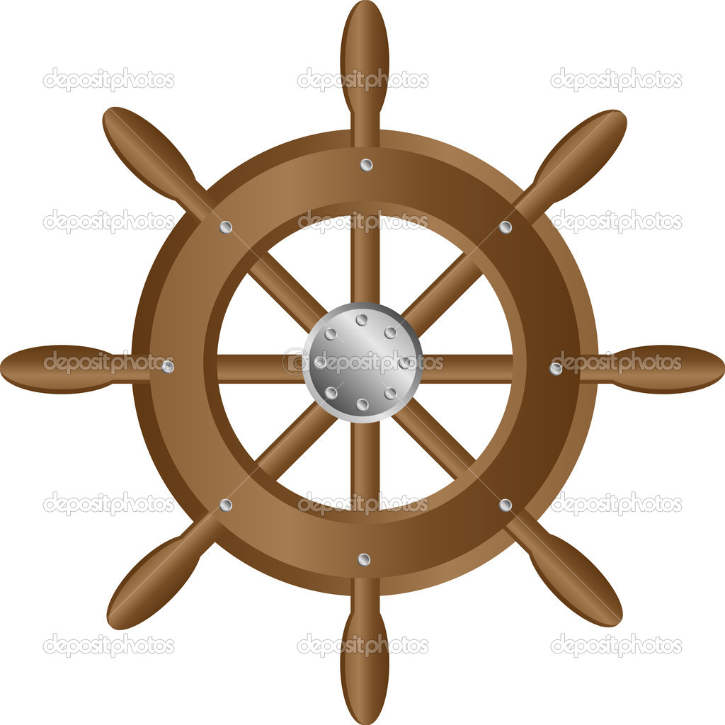 Штурвал корабля картинка
