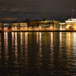 图库照片: Night view of the St Petersburg.