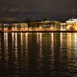 Night view of the St Petersburg. — Stock Photo