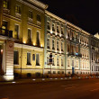 Night view of the street in St.Petersburg — Stock Photo