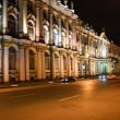 Night view of Palace Embankment in St.Petersburg — ストック写真