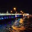 Palace Bridge at night in St.Petersburg — Stock Photo #7705080