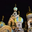 "Orthodox Church ""Spas na Krovi"" at night, St.Petersburg — Stock Photo"