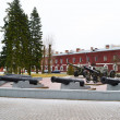 Guns in memorial complex Brestskaya fortress — Stock Photo