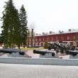 Guns in memorial complex Brestskaya fortress — Stockfoto