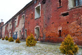 Wall of the Brest Fortress in Brest — Stock Photo