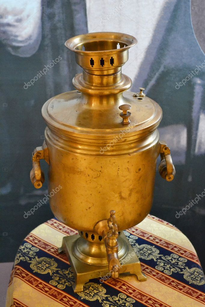 The ancient Russian samovar from copper  Stock Photo #7741734