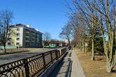 Calle en el casco antiguo de pinsk — Foto de Stock