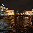 Moika river at night — Stock Photo