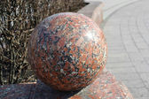 Red granite sphere, Independence Square in Minsk — Stock Photo
