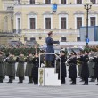 Victory Day parade rehearsal — Stock Photo