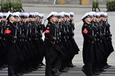 Victory Day parade rehearsal — Стоковое фото