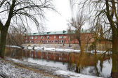 View of the river Mukhavets in Brest Fortress — Stock Photo