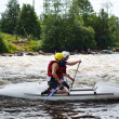 Kayaker on river Vuoksi — Stock Photo #7882688