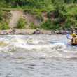 Kayaker on river Vuoksi — Stock Photo #7882747