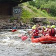 Stock Photo: Whitewater rafting