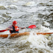 Kayaker on river Vuoksi — Stock Photo #7882835