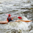 Kayaker on river Vuoksi — Stock Photo #7882838