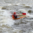 Kayaker on river Vuoksi — Stock Photo #7882856