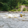 Kayaker on river Vuoksi — Stock Photo #7882860