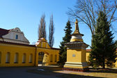 Courtyard of Franciscan Monastery in the Baroque style, Pinsk — Stock Photo