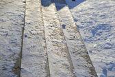 Scale illuminate dalla luce del sole — Foto Stock