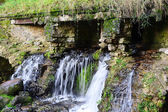 Small waterfall in park, Pavlovsk — Stock Photo